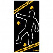 Rýchloschnúci osuška Towee Crime Scene 80x160 cm