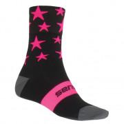 Ponožky Sensor Stars čierne / ružové