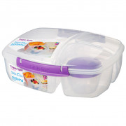 Obedový box Sistema Triple Split Lunch 2L