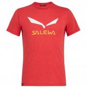 Pánske triko Salewa Solidlogo Dri-Rel M S/S Tee - tango red melange