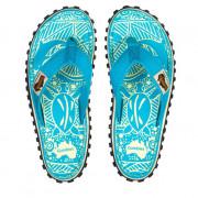 Dámske žabky Gumbies Islander Turquoise Pattern