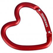 Munkees karabína v tvare srdca