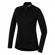 Dámske funkčné tričko Husky Merino zips, dl.rukáv čierna