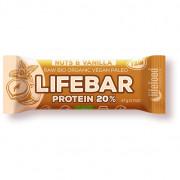 Tyčinka Lifefood Organic Lifebar Protein Vanilla Nuts RAW 47 g