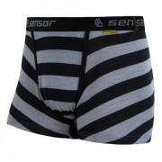 Boxerky Sensor Merino Wool Active čierny pruh